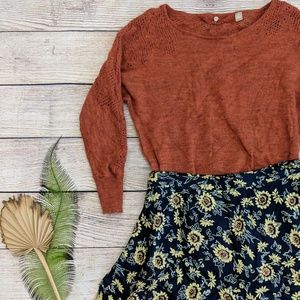 {Anthropologie} Knitted and Knotted wool sweater
